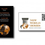 New World Homes Business Card